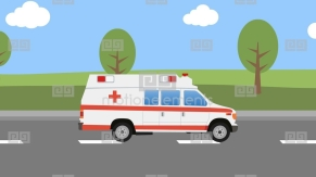 Cartoon Ambulance Car Stock Animation | 10496218 for Ambulance Animation
